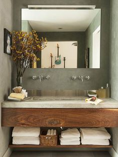 30 ideas para combinar tus muebles de baño de estilo actual · 30 ideas to combine your bathroom furniture Bad Inspiration, Bathroom Inspiration, Bathroom Ideas, Bathroom Remodeling, Bathroom Designs, Bathroom Makeovers, Bathroom Organization, Bathroom Styling, Bathroom Interior Design