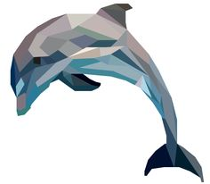 Dolphin Geometric Art | pinterest.com/emilylan752