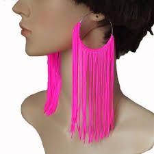 Resultado de imagem para brincos cor de rosa