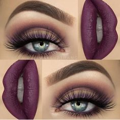 How much do you love makeup ? Cute Makeup, Gorgeous Makeup, Pretty Makeup, Purple Makeup, Makeup Goals, Makeup Inspo, Makeup Inspiration, Makeup Style, Makeup Ideas