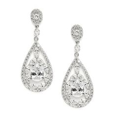 Mariell Mosaic CZ Earrings 3784E - perfect size for Mother of the Bride!