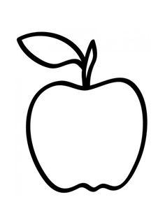 Omtrek appel: De kleuters kunnen deze opvullen met propjes crêpepapier.
