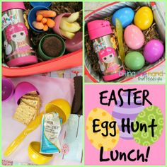 Love this #allergyfriendly Easter Egg Hunt Lunch idea!