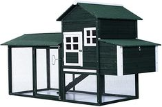 Constructed from high-quality fir wood with a treated finish, this outdoor chicken coop kit from PawHut is made with the kind of quality that is made to match your home and garden. A water-based paint gives a green finish to a chicken coop that has an expansive living area for your chickens and a dual-sectioned nesting box. #chickencoops #amazon #backyardchicken #homesteading #gentlemanpirateclub Backyard Coop, Backyard Poultry, Backyard Chicken Coops, Chickens Backyard, Outdoor Garden Bench, Outdoor Gardens, Patio, Best Chicken Coop, Small Chicken