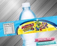 Mickey Roadster Racers Birthday Water Bottle Label