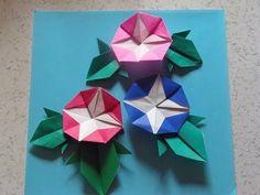 """朝顔の花 折り方作り方 Origami Flower """"Morning Glory"""""""