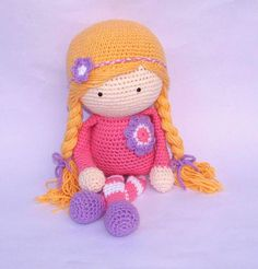 Crochet Doll Made to Order Custom Colors by TootyLou on Etsy, $60.00