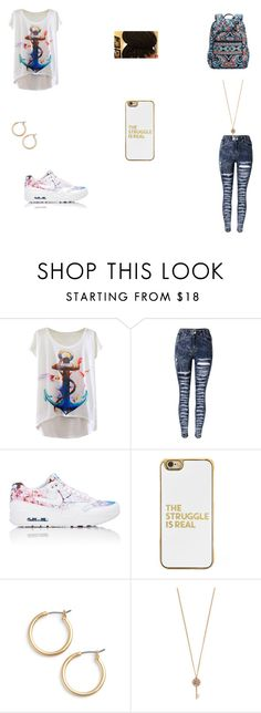 """school flow"" by lilmunchy ❤ liked on Polyvore featuring NIKE, Vera Bradley, BaubleBar, Nordstrom and Aéropostale"