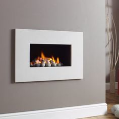 The Legend Aura Prestige Contemporary Stone Hole-in-the-Wall Gas Fire fro directfires-online Wall Gas Fires, Fire And Stone, Front Room, Gas, Gas Stove, Fireplace Gallery, Wall, Cheap Gas, Fireplace