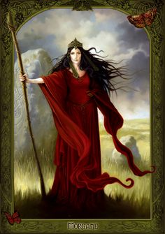 Celtic Goddess Morrigan  THE MORRIGU/MORRIGAN /MORRIGHAN / MORGAN(Ireland, Wales, and Britain  *Goddess*Supreme war goddess. Queen of phantoms and demons, shape-shifter. The crone aspect of the goddess, great white goddess. Patroness of priestesses and witches. Revenge, night, magic, prophecy /MARGAWSE (Wales) *Goddess* Mother aspect of the Goddess...