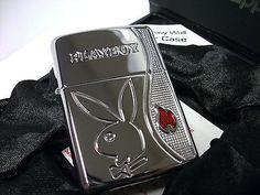 Zippo-Lighter-Playboy-ARMOR-Swarovski-Crystal-LIMITED-to-10000-Pieces-New-RARE