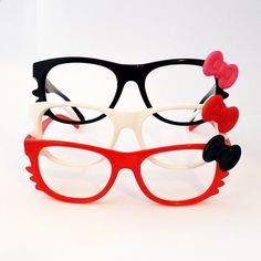 33ace24f2 Lovely HelloKitty bow Style Fashion Frame Glasses for Cosplay Costume, 5  Colors