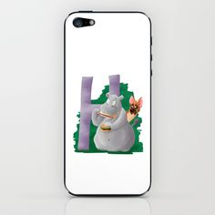 H comme Hippopotame iPhone & iPod Skin by Dinett illustration - $15.00
