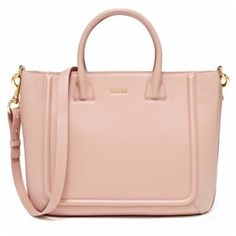 Mahon Fichero Dusty Rose Tote Bag (45,785 MXN) ❤ liked on Polyvore featuring bags, handbags, tote bags, purses, accessories, bolsas, dusty rose, zippered tote bag, pink tote and leather man bags