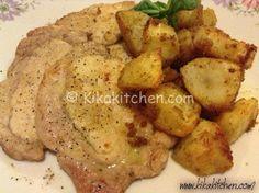 Le scaloppine di arista con patate al forno croccanti sono un secondo piatto semplice, veloce e molto versatile. Questa ricetta prevede l'uso dell'arista