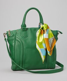 Take a look at this Green Leopard Sash Tote on zulily today!