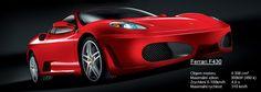 Máme tady sportovní káru č. 1:  #Ferrari F430 je jedním z nejrychlejších aut světa. Italský supersport za cca 6.mil.Kč s 490 koňskými silami, které zvládnou zrychlení z 0 na 100 km za neuvěřitelné 4 vteřiny! Max.rychlost F430 je 313 km/ hod.  Co myslíte, slušelo by Katce? #Mediatel