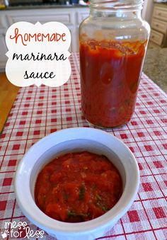 Homemade Marinara Sauce Recipe - this simple recipe will have you swearing off the store bought stuff!  #sponsored #PEPCIDTastemakers