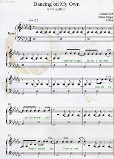 Calum Scott — Dancing On My Own Piano Sheet Music free pdf