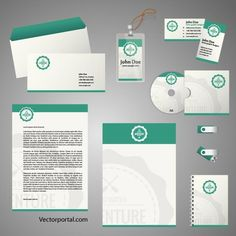 Stationery template in Adobe Illustrator Stationery vector