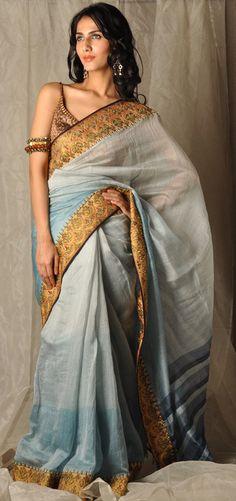 Tarun Tahiliani silk saree  more inspiration @ http://www.modernrani.com