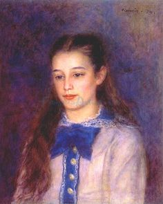Went to RA Impressionist exhibition, and although I'm not a fan of Renior, I was very taken with this particular portrait. Less fuzzy and rounded and pastelly than his usual portraits of girls…
