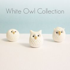 Polymer Clay Animal Owl Figurine Geekery Pocket by MeganSiedzik