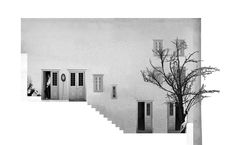 elevation collage/visualisation | Amphitheater House | Aristide Antonas | Hydra, Greece | 2007