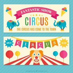 Fantastic circus show tickets Free Vector