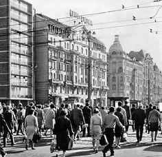 Al. Jerozolimskie / ul. Marszałkowska, lata 50./60.   (fot. Edmund Kupiecki)