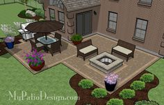 paver patios on a budget | Outdoor Space / Backyard Patio Ideas on a Budget | Outdoor Fireplaces ...