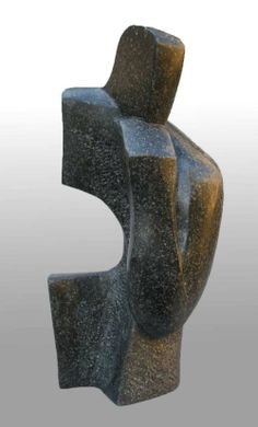 Soapstone Contemplative, Meditative, Pondering, Thoughtful, Peaceful, #sculpture by #sculptor John Brown titled: 'Contemplation (Carved stone figurative Abstract statues)' #art