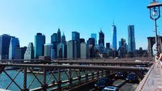 #architecture #blue #bridge #brooklyn #brooklyn bridge #buildings #city #day #gratte ciel #landscape #manhattan #monument #new york #panorama #panoramic views #sky #skyscraper #tourism #travel #united states #urban l