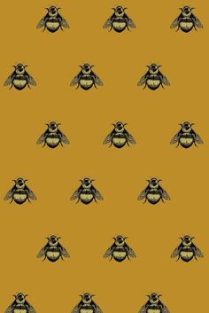 Hand Printed Napoleon Bee on Velvet - other colors available
