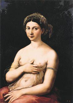 La Fornarina (1518-1519) - Raphaël (peintre) , Galerie nationale d'art ancien, Rome.
