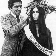 The crowning of Miss American Vampire, 1970.