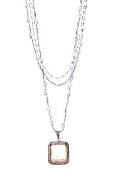 Lose Diamonds Pendant Necklace love this kind of layering....
