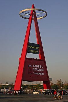 Angel Stadium. (Anaheim=Home <3 ) Love the big A. Lit up when the Angels win.