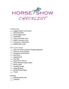 Staying Organized: The Only Horse Show Checklist You'll Ever Need — Tanya Davenport Heartland Quotes, English Horse Tack, Horse Care Tips, Horse Riding Tips, Horse Treats, Horse Camp, Dressage Horses, Horse Ranch, Show Horses