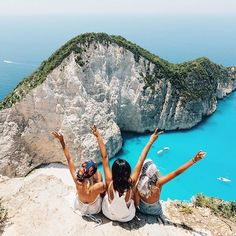 Arrived on Zakynthos ⌲ to the most beautiful view I've seen✌️ Snapchat- gypsea_lust