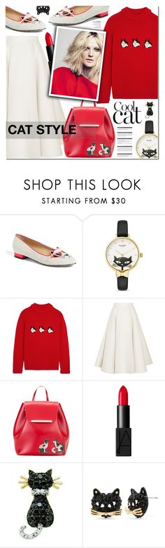 CAT STYLE by nanawidia on Polyvore featuring мода, Shrimps, Roksanda, Charlotte Olympia, N°21, Kate Spade, Betsey Johnson, NARS Cosmetics and Arche