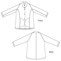Sewing Workshop pattern, Onde Jacket