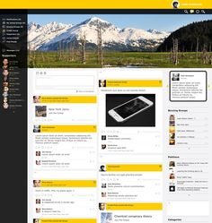 Social Networking User Interface (Main Page Layout) by anisz