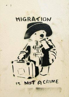 Banksy Paddington Bear - Migration is Not a Crime Fine Art Print/Poster High quality art print/poster available in sizes or We Protest Kunst, Protest Art, Protest Signs, Stop Racism, Anti Racism, Protest Posters, Buy Posters, Paddington Bear, Poster