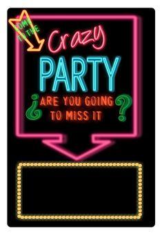 Free Printable Crazy Party Invitation
