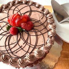 🍓 🍫 Yum..Yum.. Yum... Our delicious chocolate sponge cake! Deeelicious!!! Now that's my kind of dessert! #chocolateeveryday #eatdessertfirst 😊😋