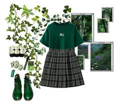 greenery by moonlit-mountain on Polyvore featuring polyvore, fashion, style, Dr. Martens and ULTA