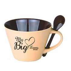 """This is a great way to show some love for your Little! This mug features the """"My Big Loves Me"""" design on the mug!"""