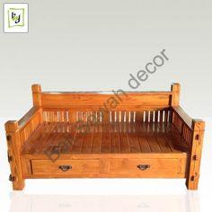 Day Bed Wood  by #bali sawah decor