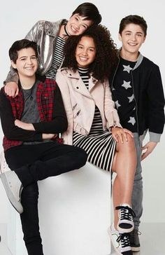 That's one good looking cast Disney Channel Shows, Disney Shows, Pelo Corto Lucy Hale, Fun To Be One, How To Look Better, Peyton Elizabeth Lee, Andi Mack Cast, Sofia Wylie, Love U Forever